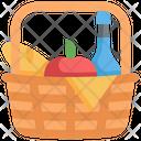 Basket Picnic Holiday Icon