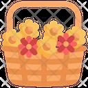 Basket Flower Blossom Icon