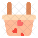 Basket Love Heart Icon
