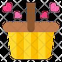 Basket Love Shopping Icon
