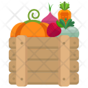 Basket Fruits Vegetables Icon