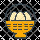 Basket Egg Bucket Icon