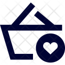 Basket Love Ecommerce Icon