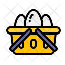 Basket Eggs Tray Icon