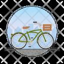 Basket Bicycle Icon