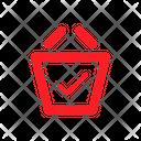 Basket Checked Bag Basket Icon