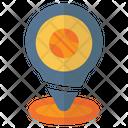 Pin Location Basket Icon