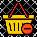Basket Minus Basket Shopping Icon