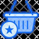 Basket Star Basket Shopping Icon