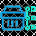 Timeline Basket Shopping Cart Icon