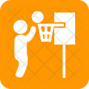 Basketball Player Net Icon