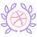 Basketball Badge Icon