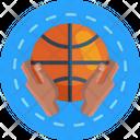 Basketball Basketball Ball Hands Holding A Ball Icon