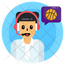 Announcer Basketball Commentator Commentator Icon