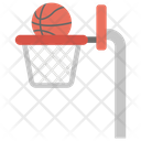 Basketball Court Goal Basket Patterned Ball Icon