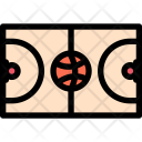 Basketball Court Athlete Icon