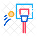 Basketball Hoop Flying Icon
