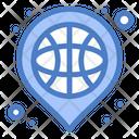 Basket Basketball Location Icon