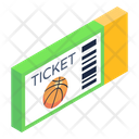 Basketball Match Ticket Voucher Hockey Pass Icon