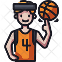 Basketball Player User Sport Icon