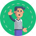 Basketball Referee Signal Icon