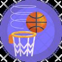 Score Hoop Net Basketball Ball Icon