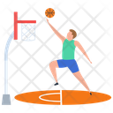 Sport Outdoor Game Basketball Player Icon