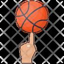 Basketball Spinning Basketball Balancing Sports Ball Icon