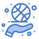 Basketball Spinning Fitness Hand Icon