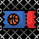 Basketball Ticket Ticket Match Ticket Icon