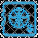 Basketball Ticket Icon