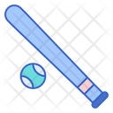 Bassball Ball Bat Icon