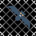Bat Halloween Bird Icon