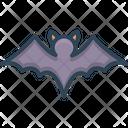 Bat Flying Halloween Icon