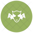 Bat Clown Halloween Icon