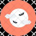Bat Weather Moon Icon
