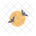 Bat Night Moon Icon