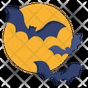 Bat Fly Moon Icon