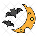 Bat Halloween Moon Icon