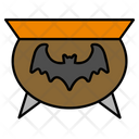 Bat Pot Halloween Icon