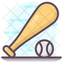 Bat Ball Baseball Equipment Baseball Tool Icon