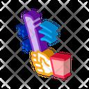 Man Hand Bat Icon