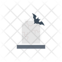 Graveyard Bat Scary Icon