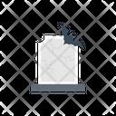 Graveyard Bat Scary Icon