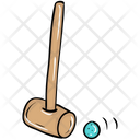 Bat Mallet Cricket Equipments Cricket Tool Icon