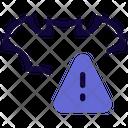 Bat Warning Bat Alert Bat Virus Icon