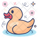 Bath Duck Rubber Duck Kids Toy Icon