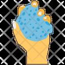 Bath Sponge Scrubbing Cleaning Icon