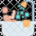 Bathing Shower Bath Tube Icon