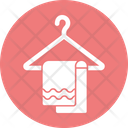 Bathing Bathroom Towel Hanged Towel Icon